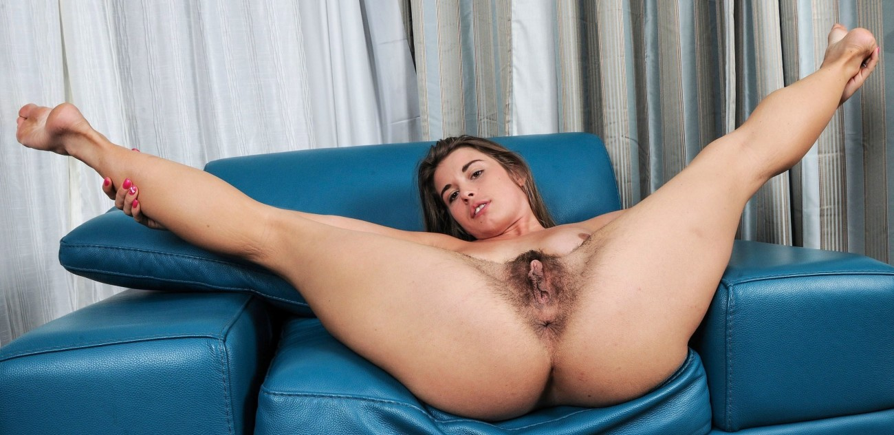 Ebony furry beaver stretched eagle -..