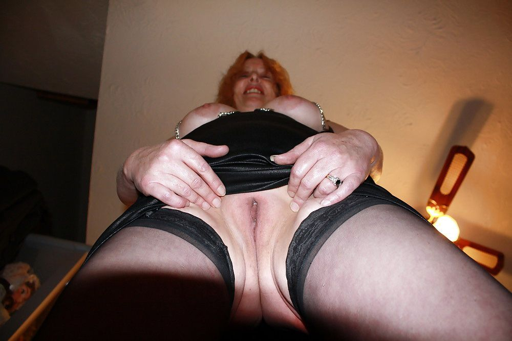 Why this mature housewife wore tights..
