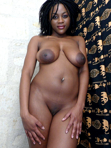 Big-boobed dark-hued hoes eager for..
