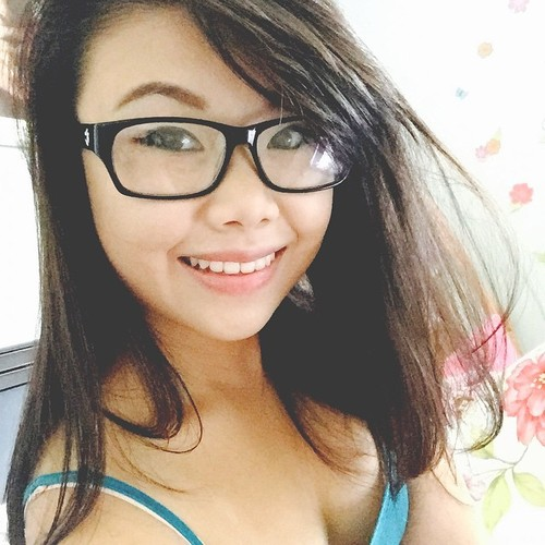 Young woman honey in glasses is so..