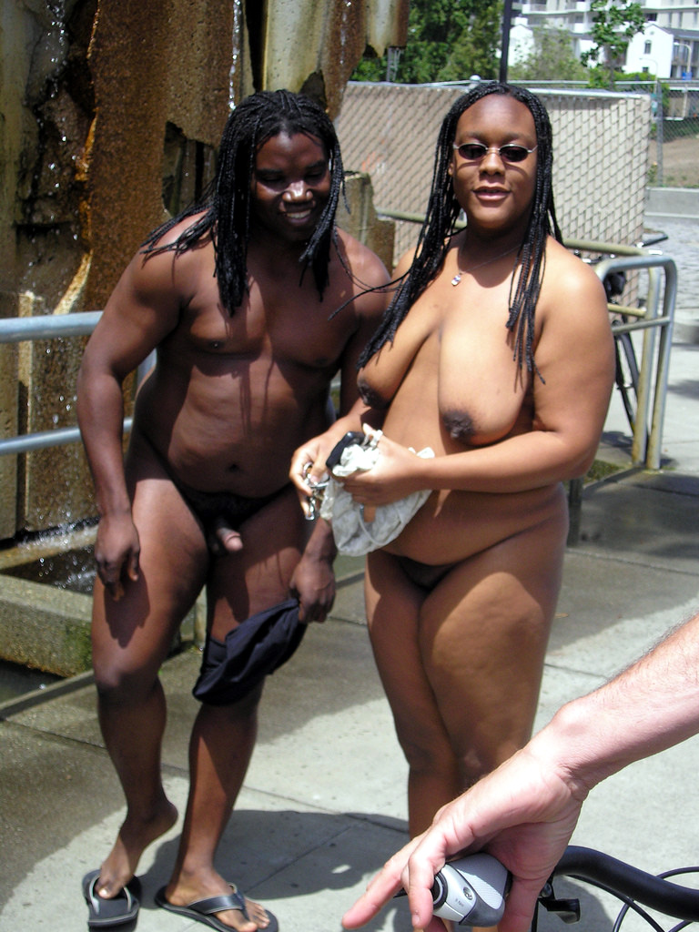 Unexperienced ebony duo flashes oral..