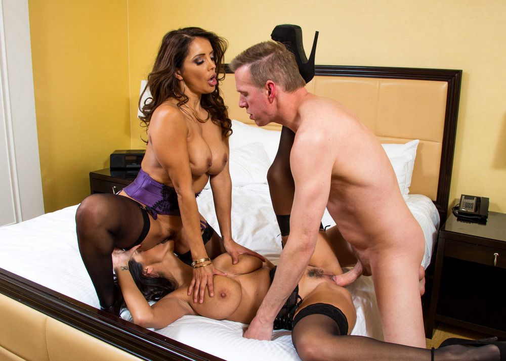 Big-boobed cougars 3some, actress -..