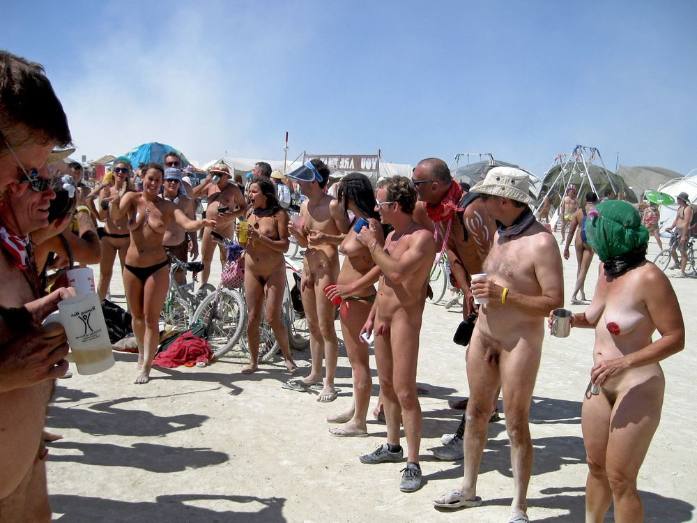 Pic bevy of naked people in public in..