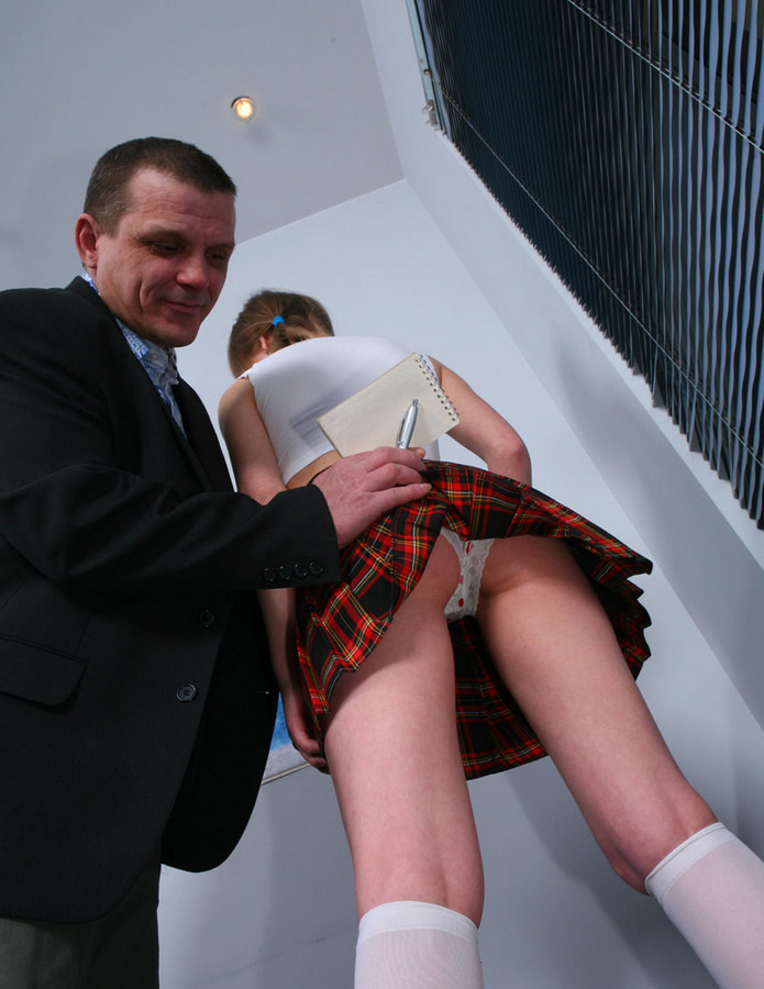 Magnificent students in plaid skirts..